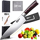 Soufull Chef Knife 8 inches Japanese Stainless Steel Gyutou Knife Professional Kitchen Knife with Ergonomic Handle-Gift Box Included