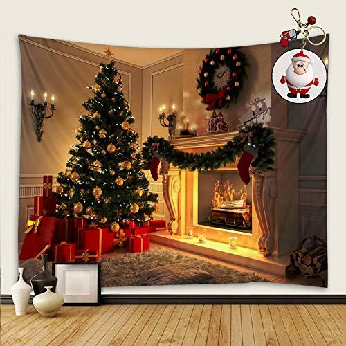 Tapices Interior De La Navidad Decoraciones Para Chimeneas/tapices De Arte/decoración Hogareña/tapiz De Dormitorio,viene Con Colgante De Santa Claus,tapiz Tapiz De Tela Decoración De La Pared
