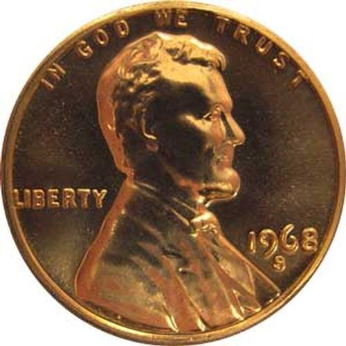 1968 S Gem Proof Lincoln Memorial Cent US Coin Penny