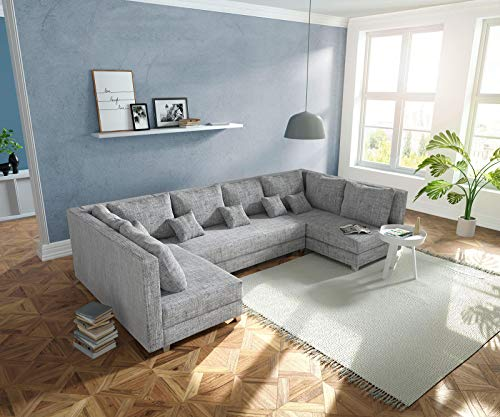 DELIFE Couch Panama Hellgrau Wohnlandschaft modular