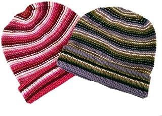 Alpaca Hand Knit Beanie Set of Two Assortment Winter Hat Peru Fair Trade