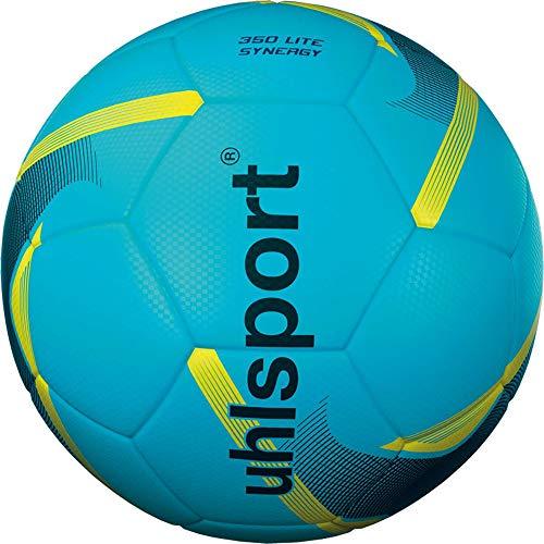 uhlsport Unisex– Erwachsene 350 Lite Synergy Fussball, eisblau/schwarz/Fluo gelb, 5