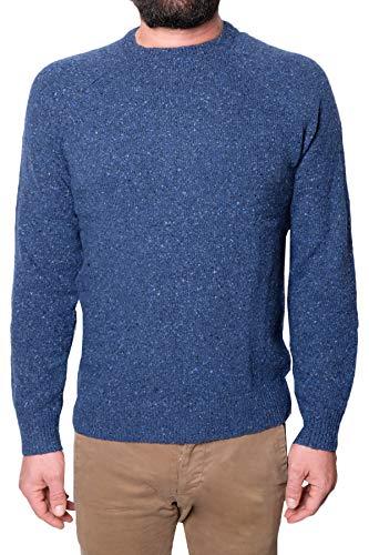 Brooks Brothers Mod. 145949 Pullover Donegal Tweed Herren Blau S