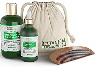 Botanical Hair Growth Lab Value Set Lemongrass - Rosemary for Hair Thinning, Postpartum and Alopecia - Shampoo for Hair Thickening and Hair Loss Treatment - Natural DHT Blocker