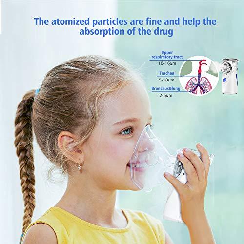 515XyciN+6L - NWOUIIAY Nebulizador Portátil Inhalador Eléctrico Silencioso Cable USB Recargable para Adultos y Niños