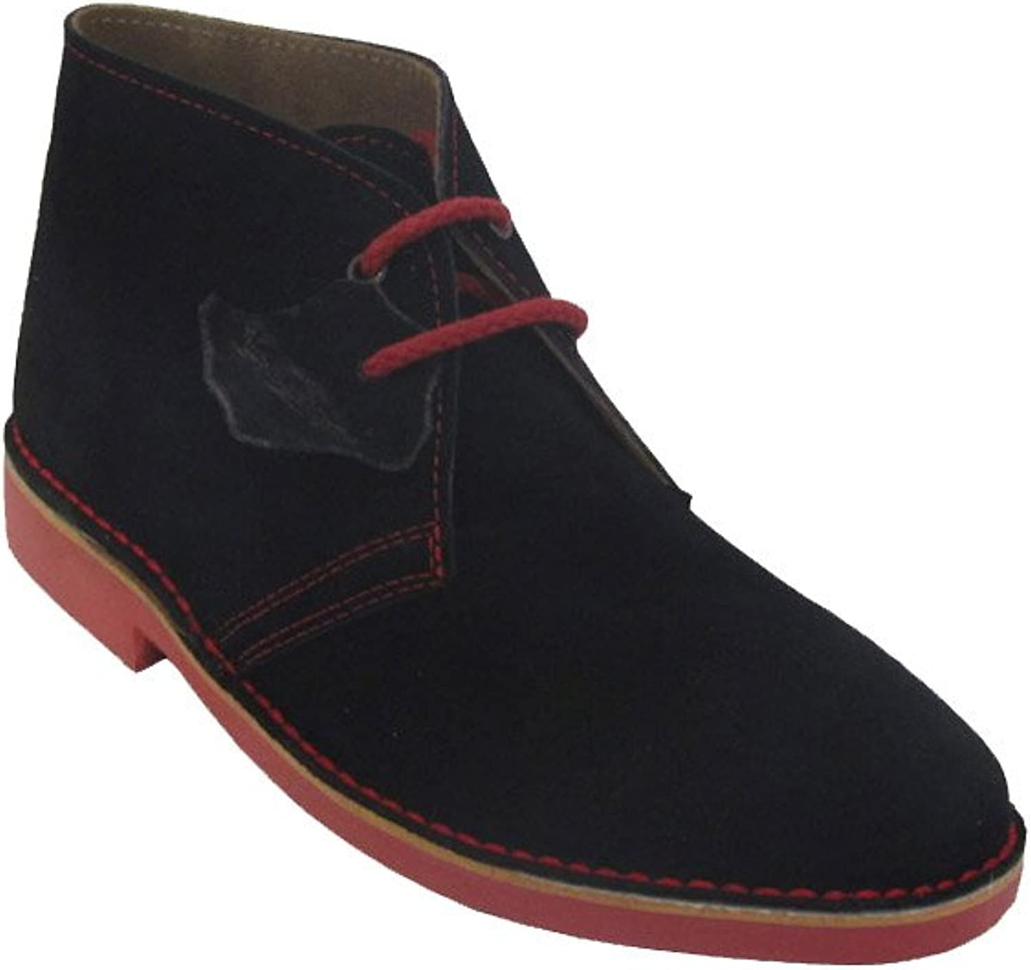 La Auténtica K100PC - Desert Boot Italian tip Combined, Unisex Adult, Black - red