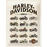 Nostalgic-Art Cartel de Chapa Retro Harley-Davidson – Model Chart – Idea de...