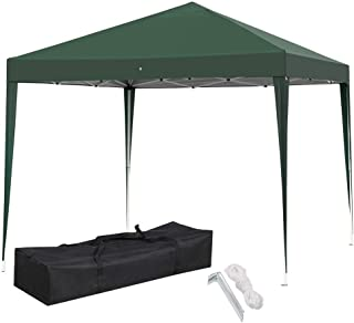 Yaheetech Outdoor 10 x 10 ft Pop Up Canopy Tent Portable Shade Instant Folding Canopy with Carry Bag