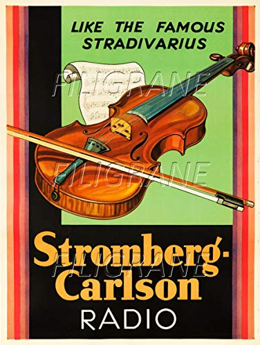 PostersAndCo TM Stromberg Carlson Violine Rdaz-Poster/Nachbildung 50 x 70 cm (auf Papier 60 x 80 cm) d1 Poster Vintage/Retro