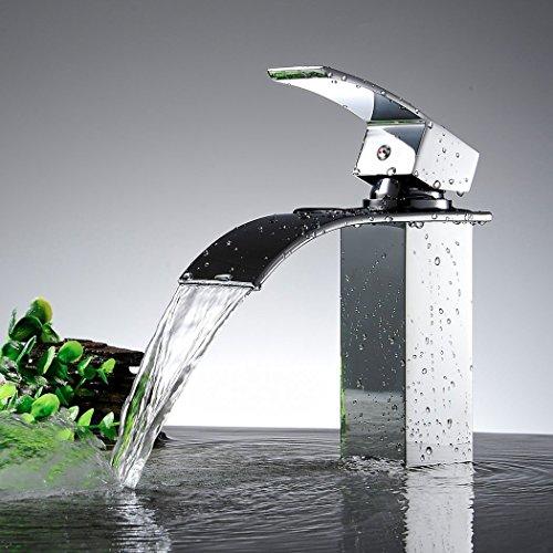 Homdox, rubinetto miscelatore monoleva a cascata, per lavabo