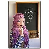 DRAGON VINES League Legends Seraphine Posters Personalizado Lienzo Cuadro Cuadro Cuadro Pintura Virtual Idol Kda Virtual Girl Group Hermosa Girl Music Producer Loli 61 x 91 cm