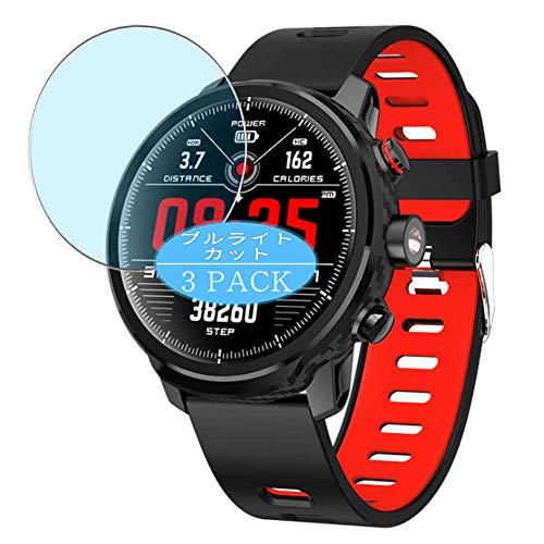 Vaxson 3 Stück Anti Blaulicht Schutzfolie kompatibel mit Padgene L5 smartwatch Smart Watch, Displayschutzfolie Bildschirmschutz [nicht Panzerglas] Anti Blue Light