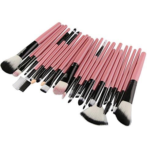 Katpost 25 Pièces Pinceaux de Maquillage Professionnel Cosmétique Pinceau Kit de Pinceau de Maquillage pour Fond de Teint, Blush, Correcteurs pour les