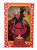 La Señorita Muñeca Flamenco España Vestido Disfraz Rojo Puntos Negro