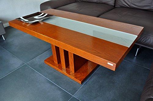 Design Couchtisch Tisch S-444 Kirschbaum Kirsche Milchglas Carl Svensson