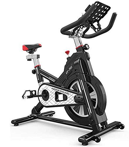 NFJ Heimtrainer,Fahrrad Fitness Bike,stufenlose Widerstandseinstellung, Einstellbarem Sitz Und Lenker, Getränkehalter Und LCD-anzeige, Fitnessbike Bis 200kg Belastbar,Black