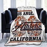 N/A Manta Manta Ligera Manta súper Suave Cama acogedora Cálida los Angeles Atletismo Sello de tipografía California vect Emblema Vintage Sport Wear Print