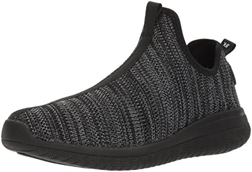 AND 1 Men's Too Chillin Too Basketball Shoe, Black Knit/Black, 10 M US