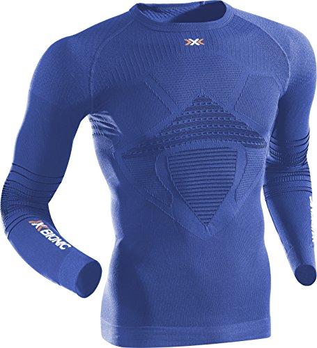 X-Bionic I020268 T-Shirt à Manches Longues Homme, Denim/Bleu, FR : S (Taille Fabricant : S/M)