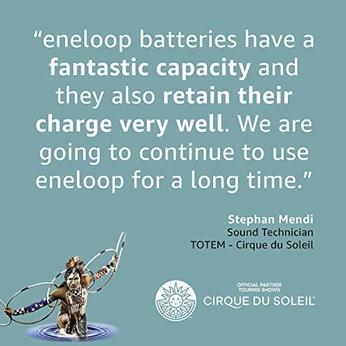 Panasonic eneloop, Ready-to-Use Ni-MH Akku, AAA Micro, 8er Pack, Storage Case, min. 750 mAh, 2100 Ladezyklen, starke Leistung, wiederaufladbare Akku Batterie