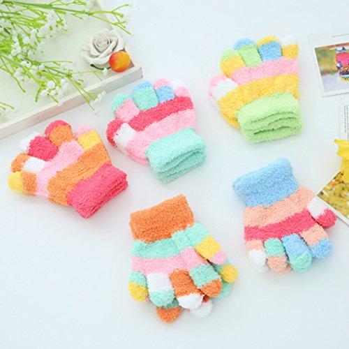 peng kinderen warmer handschoenen jongens meisjes dikke koraal fleece volledige vinger wanten