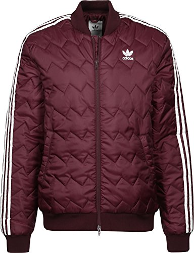 adidas Originals SST Quilted Jacket X Small Maroon