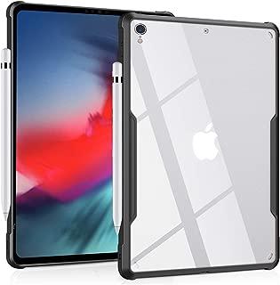 iPad Pro 12.9インチ(2018年リリース、第3世代)ウルトラスリムクリアケースシリーズ - Apple Pencilワイヤレス充電ドロップ保護耐衝撃性フレキシブルTPU、軽量をサポート (黒)
