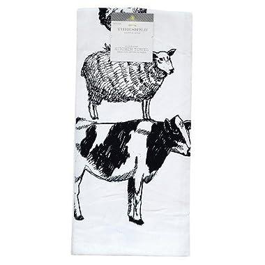 Threshold Farm Animal Flour Sack Kitchen Towel