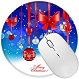Durable Non Slip Rubber Mouse Pad Desktop Mouse Pad Computer PC Mouse Mat Small Size 7.9in X7.9in (Festival Christmas)