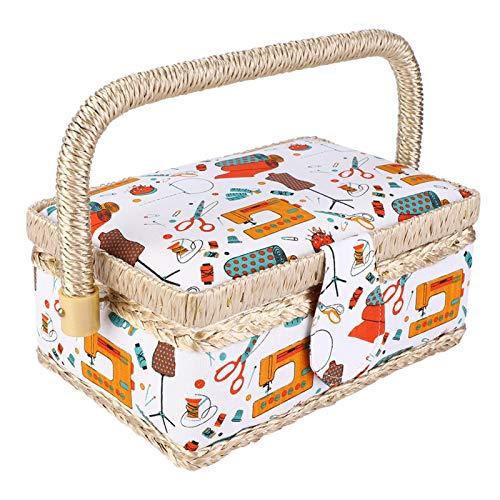 Kit de cesta de costura para coser, cesta de coser, para tijeras