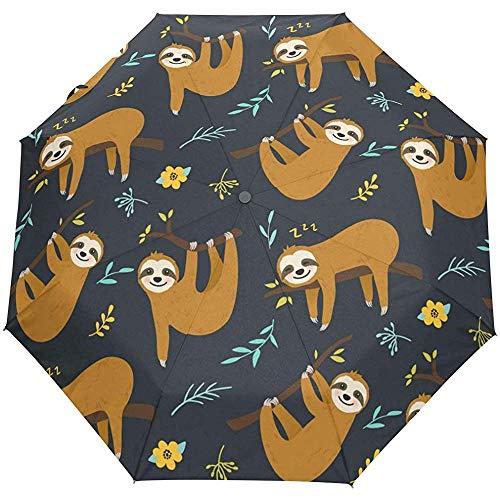 Niedliche Tier Tropische Blumen Blume Auto Open Umbrella Sonnenregen Regenschirm Anti UV Folding Compact Automatic Umbrella