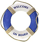 Royal Brands Welcome On Board - Nautical Decorative Life Ring Buoy - Home Wall Decor - Nautical Decor - Decorative Life Ring Preserver 19' Diameter