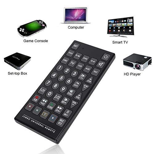 Telecomando Universale 8 in 1, Telecomando Multiuso sostitutivo per TV, Dvd, videoregistratore, VCD/TV, LD/CD, Audio, Satellite e Cavo