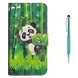 Grandoin iPhone 6S Hülle,iPhone 6 Hülle, Handyhülle im Brieftasche-Stil für Apple iPhone 6S /6 4.7 Zoll Handytasche PU Leder Flip Cover 3D Bunte Muster Case Schutzhülle Etui Case (Panda) -