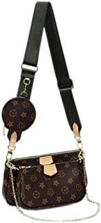 Women's Multi Pochette Accessoires Crossbody Bags Handbags Purse 2 Pieces Large Purse+ Clutch Purse + Coin Purse Kaki