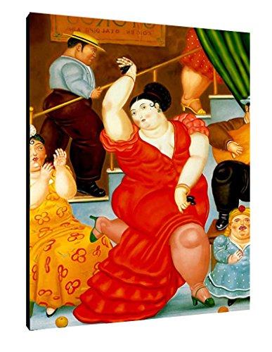 Quadro Botero intelaiato Pronto da Appendere cod. 06 cm 70x100 Stampa su Tela Canvas Vendita Falsi di Autore Il Negozio di Alex