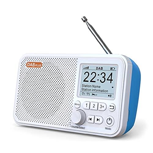 BAIRU Portátil Bluetooth 5.0 Radio Digital DAB Receptor FM Hogar Usando TF Reproductor de Tarjeta Pantalla LCD