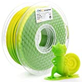 AMOLEN PLA 3D Printer Filament,PLA Filament 1.75mm, Color Change PLA with Temperature, Green Changing to Yellow,1kg