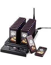 Retekess T112 Sistema de Llamadas Mejorado Sistema de Buscapersonas Pager System CE 999 Canal 20 Buscapersonas Recargables para Restaurante Hospital Fábrica, Queue no Concurrido Distancia Social