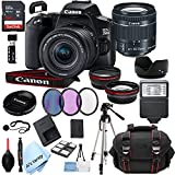 Canon EOS 250D (Rebel SL3) DSLR Camera with 18-55mm f/4-5.6 is STM Zoom Lens + 64GB Card, Tripod, Case, and More (24pc Bundle)