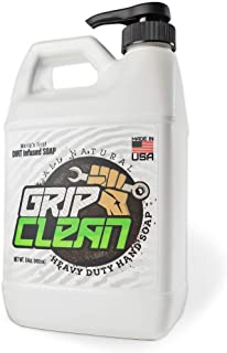 Grip Clean | Heavy Duty Hand Cleaner - Dirt Infused & All Natural Industrial Strength Soap (1/2 gal)
