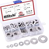 Hilitchi 128-Pcs [M3 - M12] Metric 304 Stainless Steel Belleville Spring Disc Washer Assor...