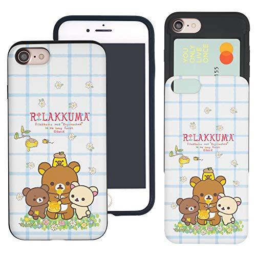 Rilakkuma Schutzhülle für iPhone 6S Plus/iPhone 6 Plus, dünn, mit Kartenschlitzen, zweischichtig, Bumper für [iPhone 6S Plus/iPhone 6 Plus], Rilakkuma Honig (iPhone 6S Plus / 6 Plus)