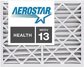 Aerostar 20x25x4 MERV 13, Pleated Air Filter, 20 x 25 x 4, Box of 2, Made in The USA
