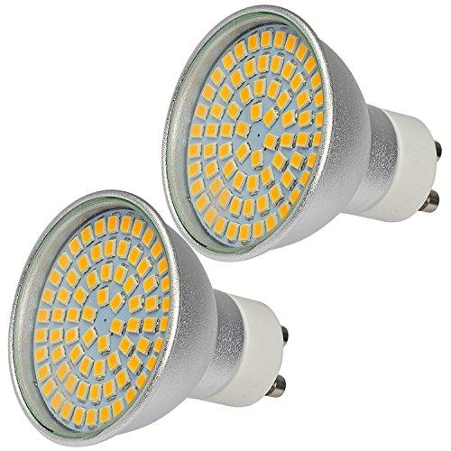 MENGS® 2 Stück GU10 LED Hohe Helligkeit Spotlicht 6W AC 220-240V Kaltweiß 6500K 72x2835 SMD Mit Aluminium Körper und Glas Mantel