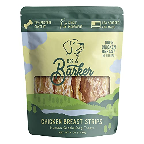 Single Ingredient Air-Dried Chicken Jerky for Dogs...