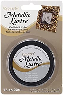 DecoArt, Silver ML03C-28 Metallic Lustre Wax, 1-Ounce, Spark, 1 oz