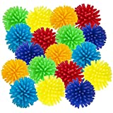 ArtCreativity Spiky Hedge Balls for Kids, Bulk Pack of 24, Soft Sensory Balls in Various Vibrant Colors, Calming Sensory Fidget Toys for Autistic Children, Fun Birthday Party Favors