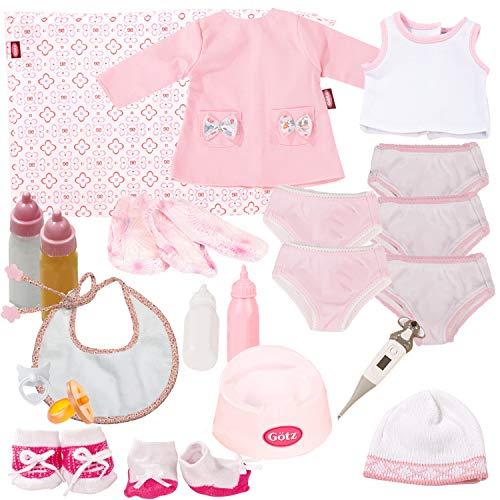 Götz 3403227 Spielzeug Adventskalender-Füllung für Puppen - 25-teiliges Puppenzubehör-Set für Babypuppen 30 - 33 cm