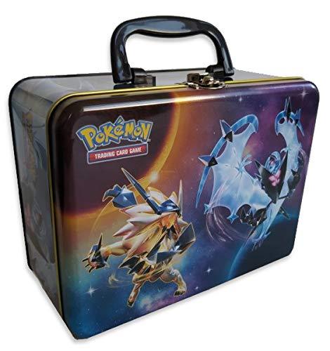 A Pokemon Sonne & Mond Sammelkoffer LEER | Spielzeug-Behälter | Kinder-Koffer mit Deckel | Kinderzimmer/Schreibtisch | Metall-Kiste | Aufbewahrungsdose